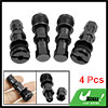 Black Metal Universal Automobile Car Truck Tire Valve Stem Kit 4 ...