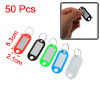 Waiter Salesman Colorful Plastic Name Tag Badge Clip Holder Keyri...