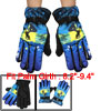 Men Fleece Lining Splodge Print Motorcycle Bike Winter Warm Glove...