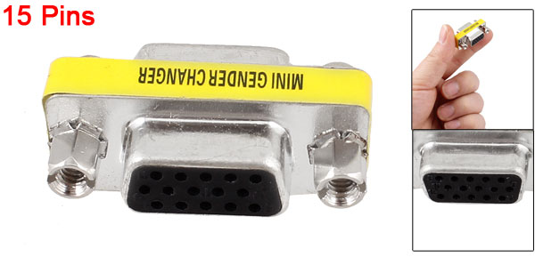 VGA 15 Pin Female to 15-Pin Female Adapter Connector Converter