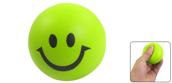 Children Gift Green Black Smiling Face PU 2.4