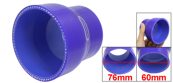 60mm-76mm Straight 3 Ply Turbo Intake Pipe Silicone Reducer Hose
