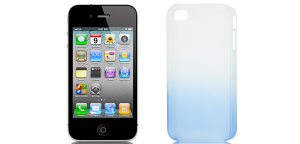 Gradient Blue Clear Protective Plastic Back Case Cover Guard for Apple iPhone 5
