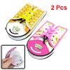 2 Pcs Shoes Shoelace Shaped Memo Pad Notepad Notepaper Pink Yellow