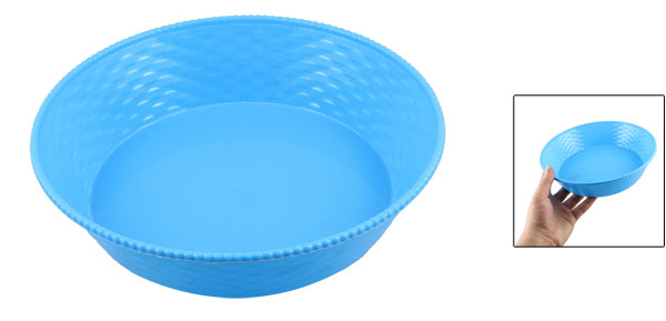 Home Desk Table Plastic Sundry Case Plate Container Blue