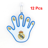 12 Pcs Hand Shaped Car Sticker Decor White Blue for Vehicle Truck
