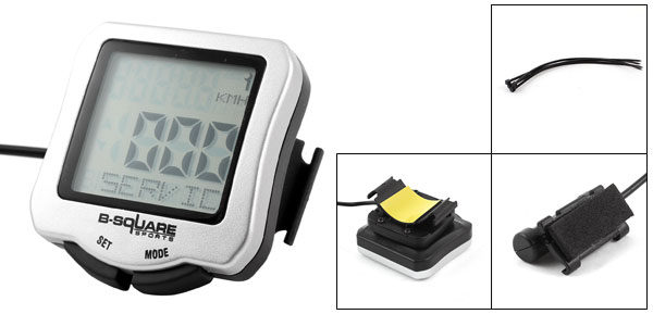CR2032 Battery Powere LCD Odometer Black Gray Velometer Cycling Bike Computer