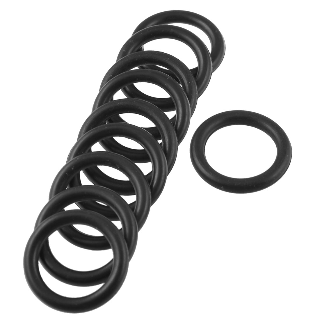 10-Pcs-Black-Rubber-Oil-Seal-O-Ring-Sealing-Gasket-Washers-21mm-x-3mm