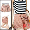 Ladies Pink Natural Waist Scalloped Trimed Casual ...