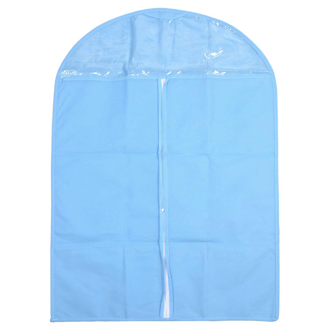 Blau-Staubdicht-Weiss-Reissverschluss-Haus-Kleidungsabdeckungsbeutel-23-6-034-x-34-6