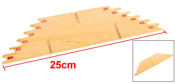 Wooden 50cm Standard Sub-line Ruler Measuring Line Board Fishing Acessories