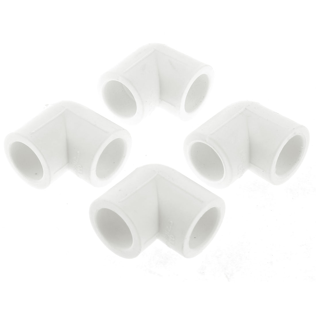 White-Elbow-Right-Angle-PVC-U-Pipe-Connectors-Adapter-Fitting-4-Pcs