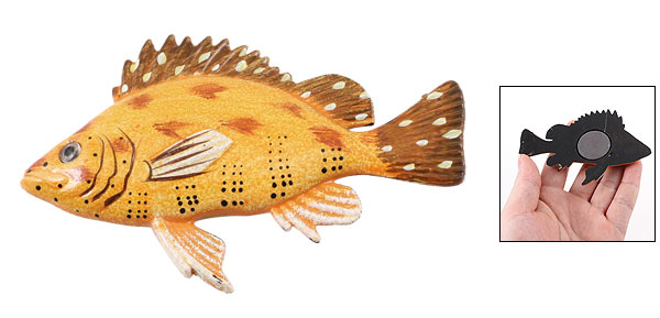 Plastic Tropical Fish Door Refrigerator Fridge Decor Magnet Sticker Brown