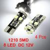 4 Pcs Canbus T10 8 1210 SMD LED Car Fascia Board L...