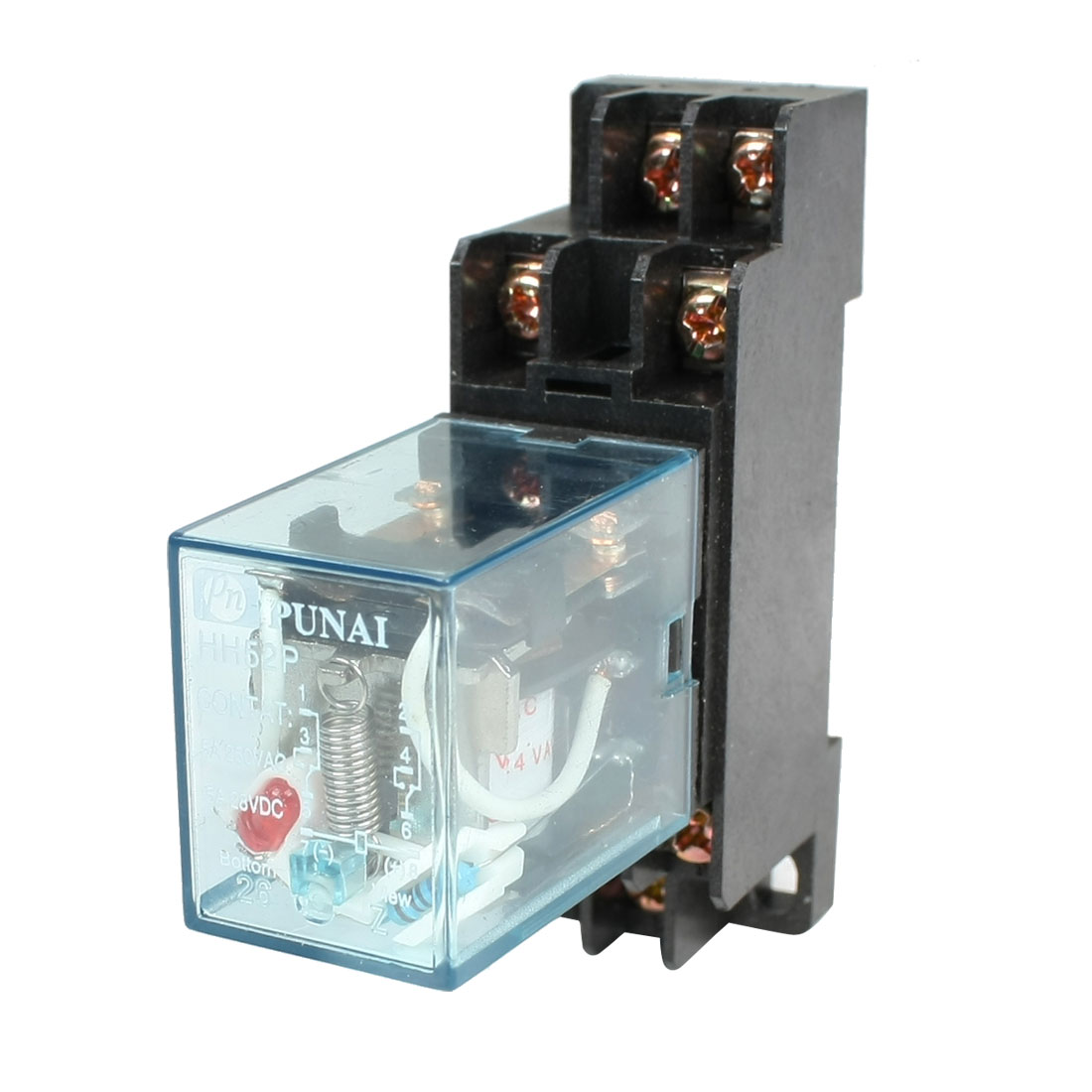 HH52P-AC-24V-Coil-DPDT-8-Pins-Electromagnetic-Power-Relay-w-DYF08A-Base