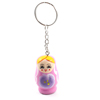 Portable Double Jingle Bell Pink Matryoshka Doll Pendants Ring Keyking