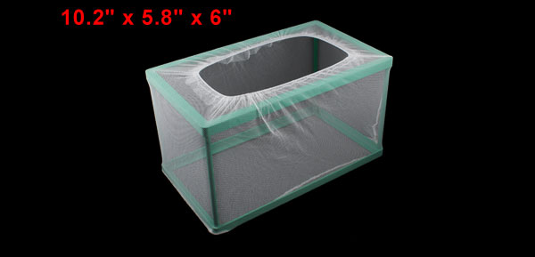Rectangualr Net Breeder Separates for Aquariums Fish Tanks w Suction Cup