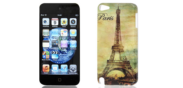 Paris Eiffel Tower Design Pale Green IMD Hard Back Case Cover for iPod Touch 5