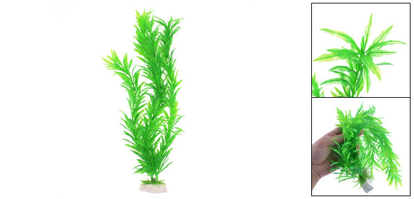 Fish Tank Aquarium Decor Plastic Green Grass Plant 15.7