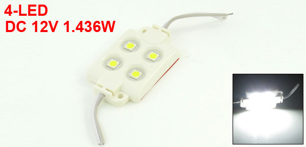SMD5050 Plastic DC 12V 1.436W Waterproof 4 LED Module Light