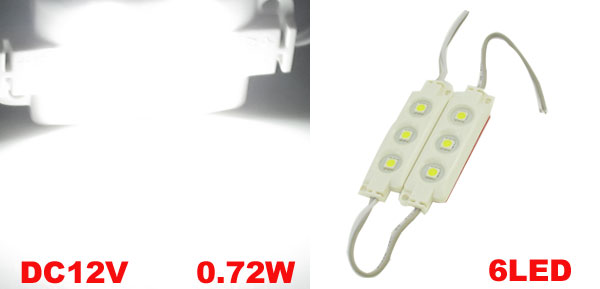 SMD5050 DC12V 0.72W Waterproof 6 White LED Module Light