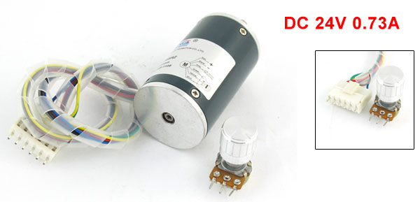 300G.cm DC 24V 0.73A Brushless Speed Control Motor 5000RPM