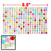Car Vehicles Glitter Colorful Plastic Rhinestone Decal Sticker Sheet