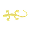 Car Vehicles Gold Tone Metal Wall Gecko Design Emblem Badge Sticker w Adhesive Tape