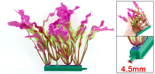 Aquarium Emulational Decor Green Fuchsia Plastic Underwater Plant 7.7