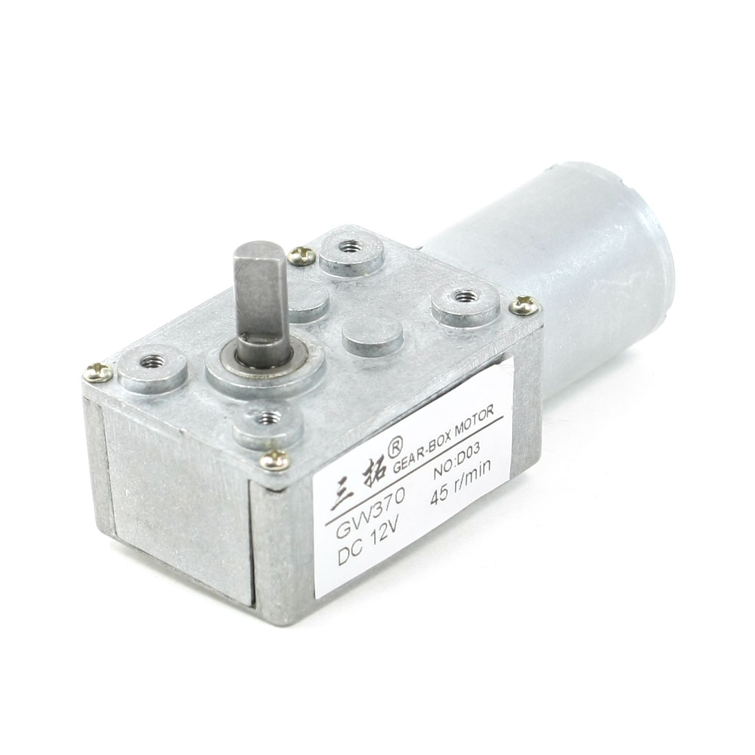 6mm-Shaft-Rectangle-Gear-Box-2-Terminals-Electric-Geared-Motor-DC-12V-45RPM