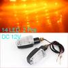 F FIERCE CYCLE Yellow 14 LED Motorcycle Indicator Turn Signal Lig...