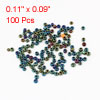 100 Pcs Green Blue Hard Plastic Round Shaped Hollow Out Beads Fishing Lures