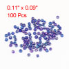 Fisherman Fishing Lure Plastic Dark Purple Circle Shaped Mini Beads 100 Pcs