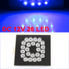 Blue LED Bulb O Pattern English Letter Lamp Decor for Car