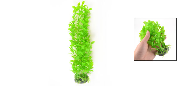 Aquarium Landscaping Decor Plastic Water Plant Grass Pale Green 12.6