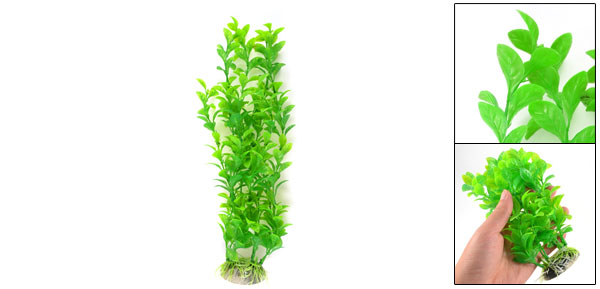 Aquarium Landscaping Ornament Plastic Water Plant Grass Green 12.6
