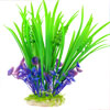 "9.2"" Height Aquarium Ornament Aquatic Plastic Plant Grass Green Blue"