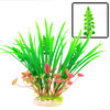 "9.4"" Landscaping Decor Artificial Water Plant Green Fuchsia w Oval Base"