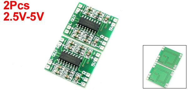 Super Mini PAM8403 2*3W D Class Digital Amplifier Board 2.5-5V USB Power 2PCS
