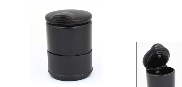 Black Plastic Shell Cigarette Holder Ashtray for Car Vehicle