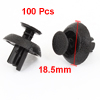 100pcs Vehicle Car 6.5mm Hole Black Door Fender Plastic Rivets Fasteners