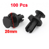 100 Pcs Auto Car Door Fender 9mm Hole Push Plastic Rivets Fastener Black