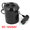 DC12/24V Auto Car 3 Way Socket Cigarette Lighter Power Charger Cup Shaped