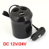 DC12/24V Car Dual USB Port 2 Socket Cigarette Lighter Power Charger Cup Shaped