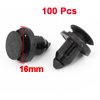 100 Pcs Auto Car Bumper Fender 8mm Hole Push Plastic Rivets Clip Black