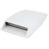 White Plastic Adhesive Back Air Flow Fender Sticker for Car