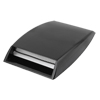 Adhesive Back Plastic Air Flow Side Vent Sticker Black 25.5 x 18cm for Auto