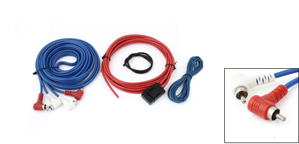 Tricolor Audio Speaker Amplifier Cable Kit for Car
