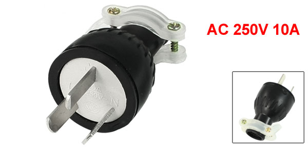 AC 250V 10A 3-Pin AU Male Plug Power Cord Connector