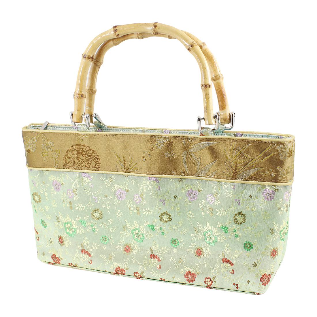 Women-Portable-Bamboo-Handle-Embroider-Plum-Blossom-Print-Handbag